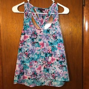 Cutout Watercolor Tank Top
